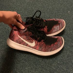 Nike RN fly knit pink marl sneakers 7.5